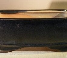 Blue Ceramic Bonsai Pot - Rectangle 7.5 x 5.5 x 3.0