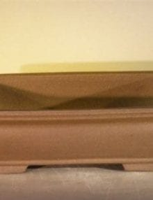 Unglazed Ceramic Bonsai Pot - Rectangle 12 x 9.625 x 3.5