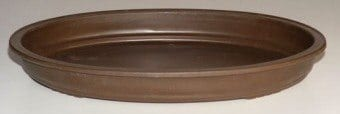 Brown Humidity/Drip Bonsai Tray/Bonsai Pot - Oval 17.0 x 12.0 x 2.0 OD 15.75 x 10.50 x 1.5 ID