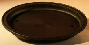 9 Round - Heavy Duty Plastic Humidity/Drip Bonsai Tray - Medium 9.0 x 1.0