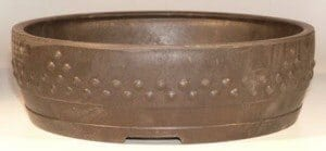 Brown Mica Bonsai Pot - Round 15.5 x 4.5 OD 14.0 x 4.0 ID