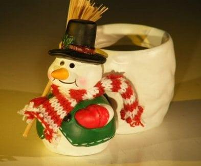 Ceramic Snowman Pot 2 x 3