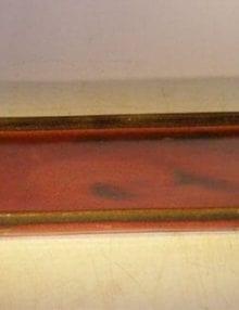 Parisian Red Ceramic Humidity/Drip Bonsai Tray - Rectangle 10 x 7.5 x 1.0 OD 9.25 x 7 x .5 ID