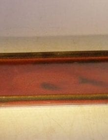 Parisian Red Ceramic Humidity/Drip Bonsai Tray - Rectangle 7.5 x 5.5 x 1.0 OD 7.5 x 5.5 x .5 ID