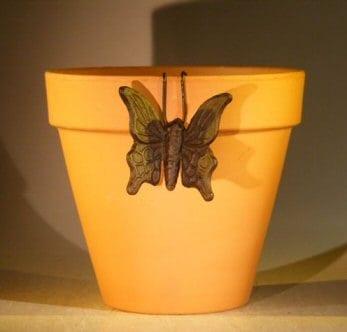 Cast Iron Hanging Garden Pot Decoration - Butterfly 3.25 Wide x 3.0 High