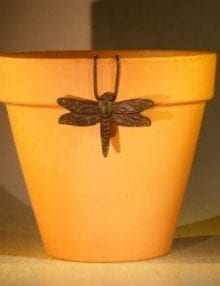 Cast Iron Hanging Garden Pot Decoration - Dragonfly 3.25 Wide x 2.25 High