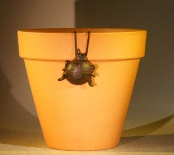 Cast Iron Hanging Garden Pot Decoration - Lady Bug 2.0 Wide x 2.0 High