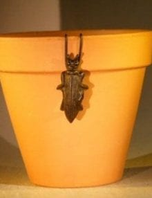Cast Iron Hanging Garden Pot Decoration - Wasp 1.5 Wide x 3.25 High