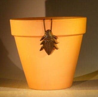 Cast Iron Hanging Garden Pot Decoration - Cricket 2.0 Wide x 2.75 High