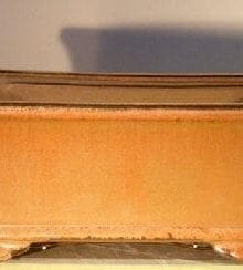 Aztec Orange Ceramic Bonsai Pot #2 - Rectangle Professional Series 10 x 8 x 4