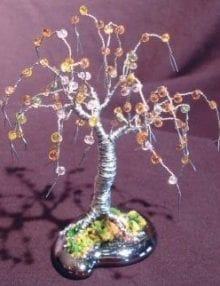 Wire Bonsai Tree Sculpture For Sale Beaded Mini Tree - 4x4x4