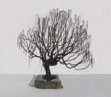 Wire Bonsai Tree Sculpture For Sale - Weeping Willow Style