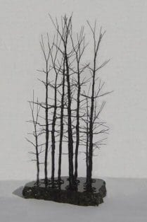 Wire Bonsai Tree Sculpture For Sale - Forest Scene