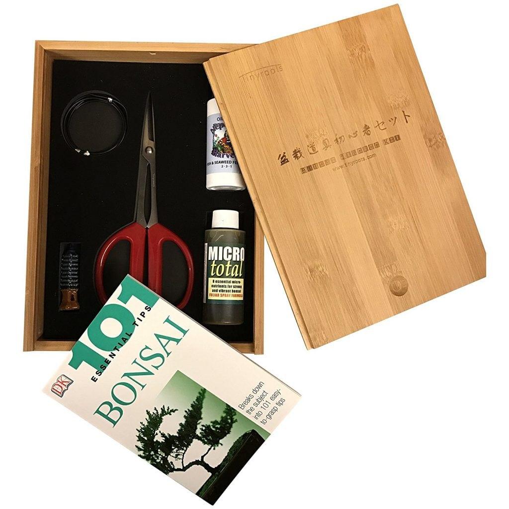 Tinyroots Bonsai Starter Took Kit in Bamboo Box